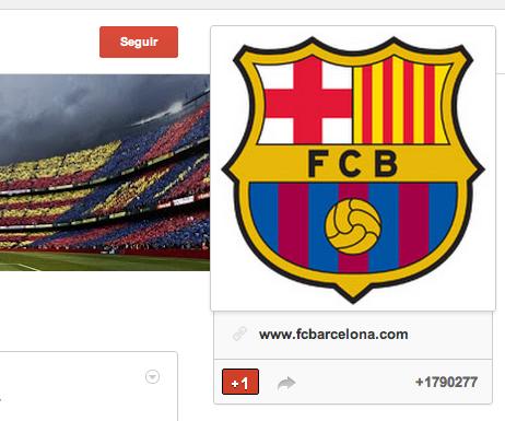 Perfil Google+ FCB